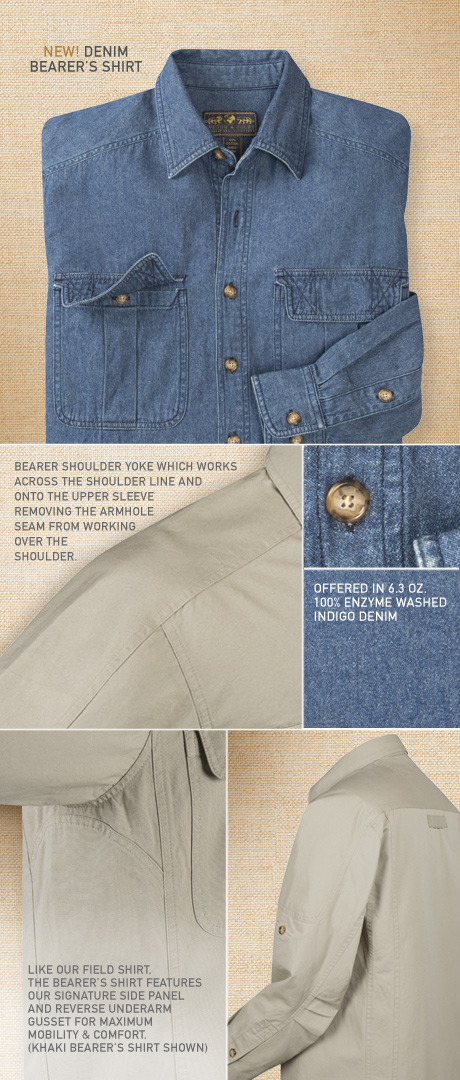 Denim Bearer's Workshirt Details