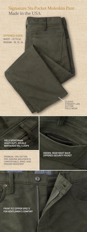Signature Moleskin 6-Pocket Pant Details