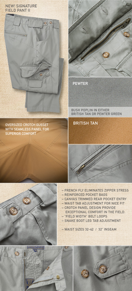 New! Updated Signature Field Pant II Details