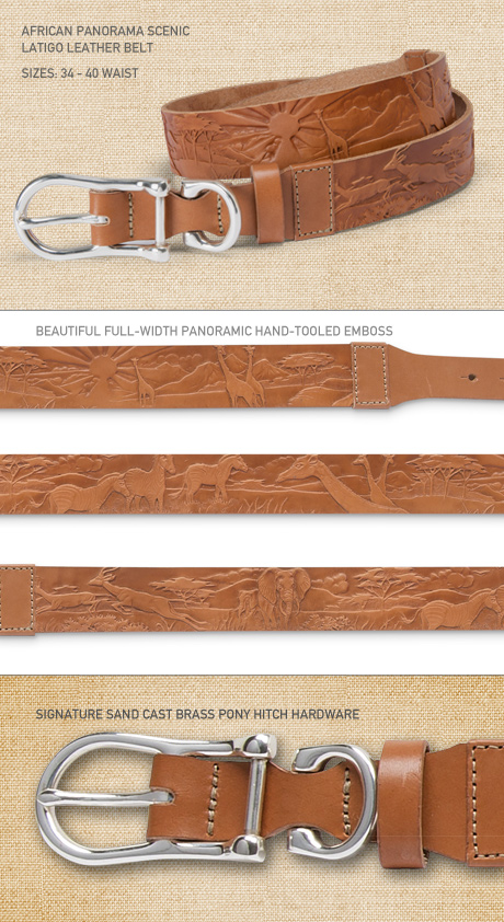 Arican Panoramic Scenic Belt Details