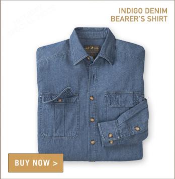 Indigo Denim Bearer's Shirt