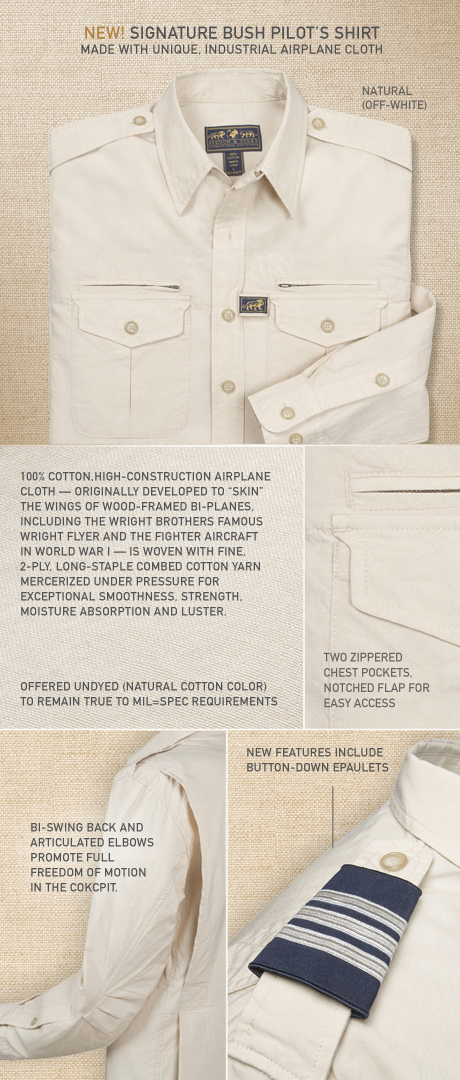 Signature Bush Pilot Shirt Details