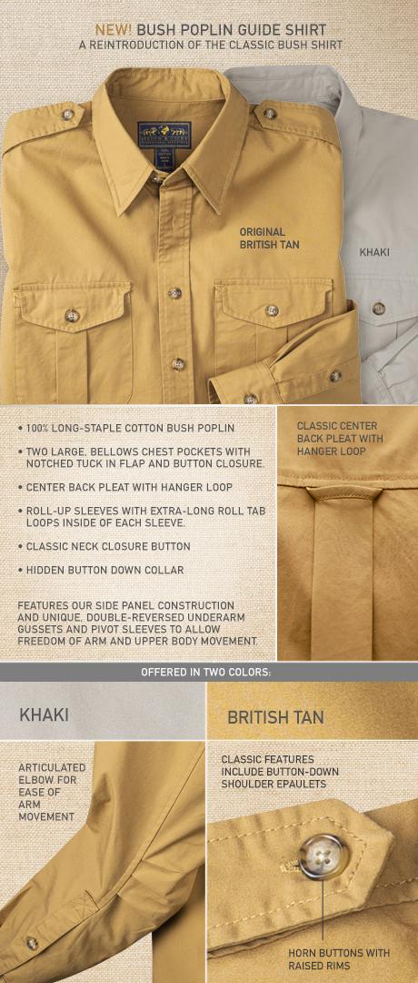 Bush Poplin Guide Shirt Details