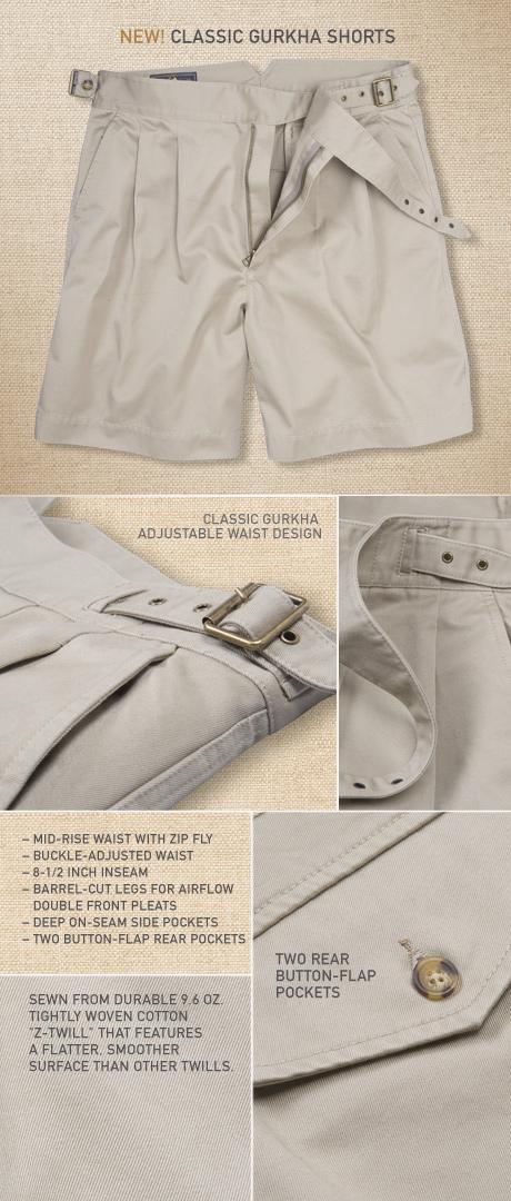 Gurkha Shorts Details