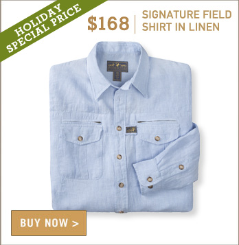 Signature Field Shirt in Light Blue Chambray