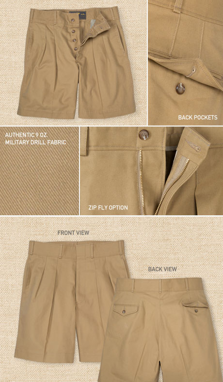 British Army Officer's Shorts Details