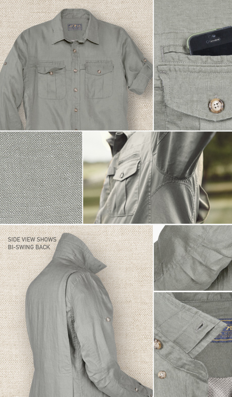Signature Field Shirt in Linen Details