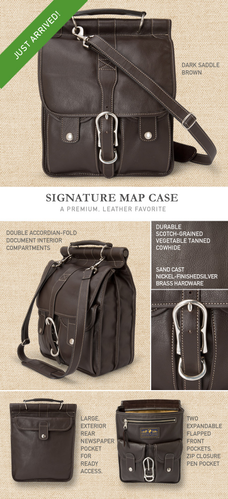 Leather Map Case Details